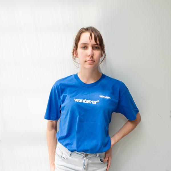 Wanderer Blue T Shirt Front