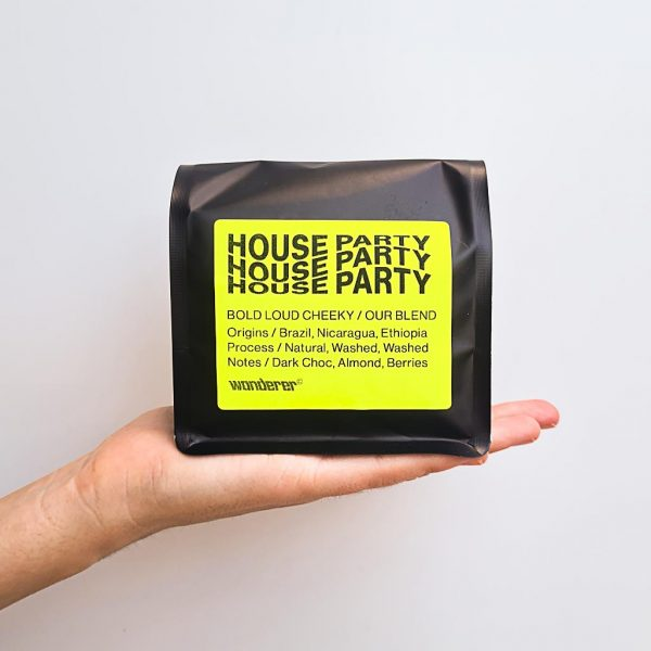 House Party Blend 200 gram packaging Wanderer Coffee